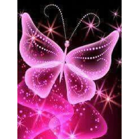 NEON PINK BUTTERFLY  Diamond Painting Kit