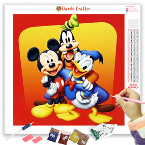 MICKEY AND FRIENDS Diamond Painting Kit