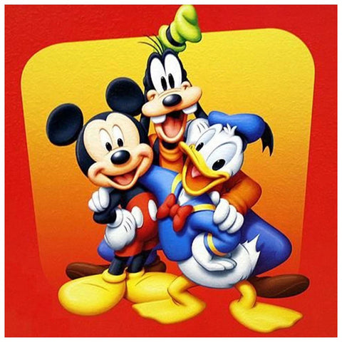 Image of MICKEY AND FRIENDS Diamond Painting Kit