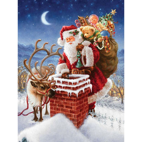 Image of CHRISTMAS IN THE AIR Diamond Painting Kit