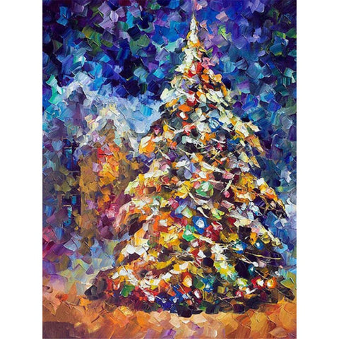 Image of AROUND THE CHRISTMAS TREE Diamond Painting Kit