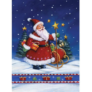 STARRY NIGHTS SANTA  Diamond Painting Kit