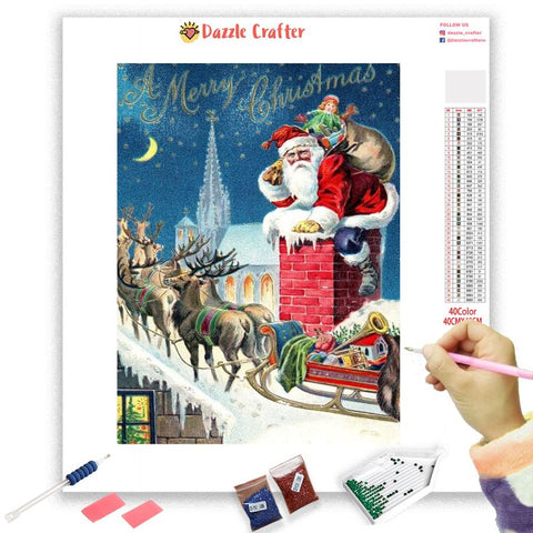 REINDEER KING SANTA  Diamond Painting Kit