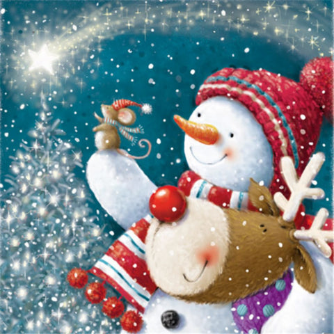 Image of SPARKLE AND SHINE SNOWMAN Diamond Painting Kit