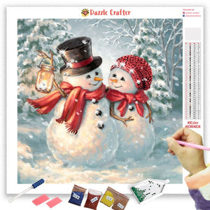 BEST BUDDIES SNOWMAN Diamond Painting Kit
