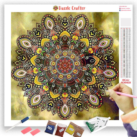 Image of JEWEL MANDALA Diamond Painting Kit