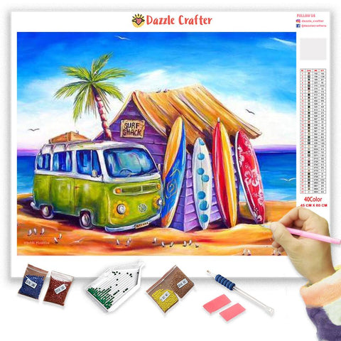 BEACH SHACK Diamond Painting Kit