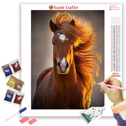 Image of SPIRITED HORSE Diamond Painting Kit