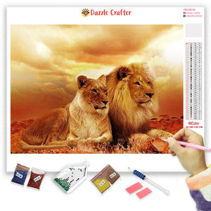 THE LION COUPLE Diamond Painting Kit
