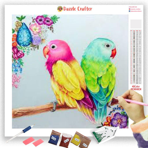 TWO PARROTS Diamond Painting Kit