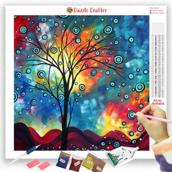 ABSTRACT TREE Diamond Painting Kit