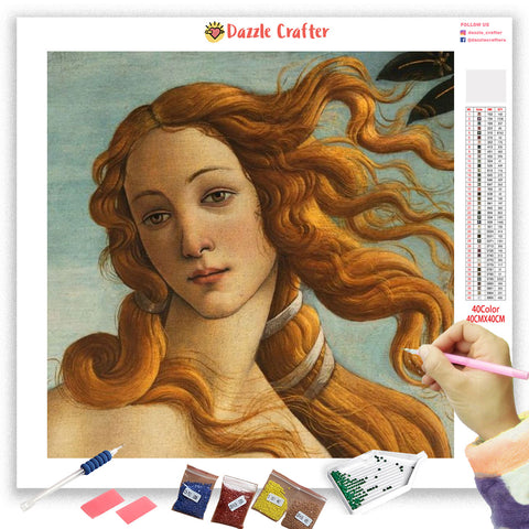 Image of VENUS LOVE GODDESS VINTAGE Diamond Painting Kit
