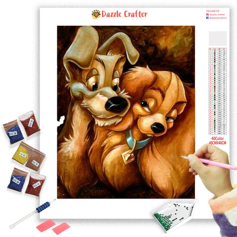 Image of LADY AND THE TRAMP Diamond Painting Kit