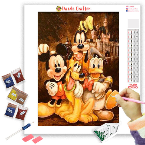 Image of MICKEY DONALD & GOOFY Diamond Painting Kit