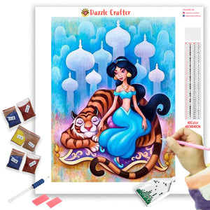 PRINCESS JASMINE ALADDIN Diamond Painting Kit