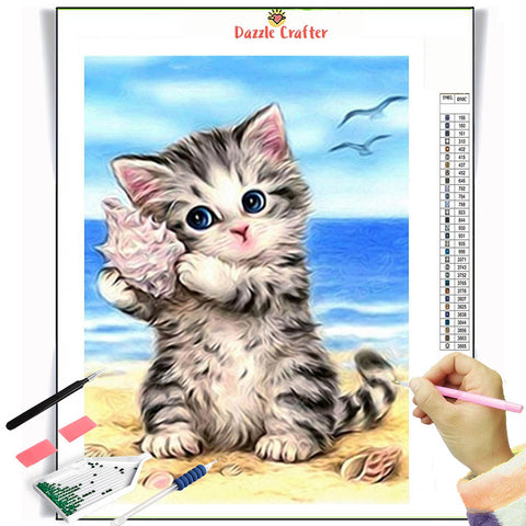 Image of SOUND OF WAVES  Diamond Painting Kit - DAZZLE CRAFTER