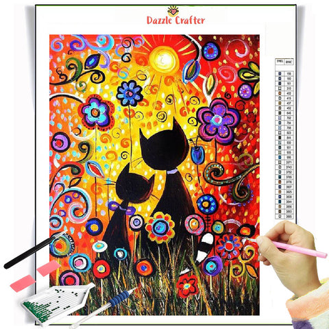 Image of FRAGRANCE OF FLOWERS  Diamond Painting Kit - DAZZLE CRAFTER