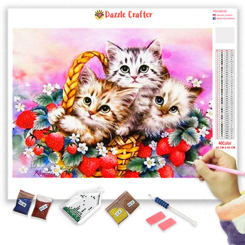 Image of ADORABLE KITTENS Diamond Painting Kit - DAZZLE CRAFTER