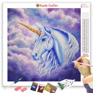 UNICORN WITH GRACE Diamond Painting Kit - DAZZLE CRAFTER
