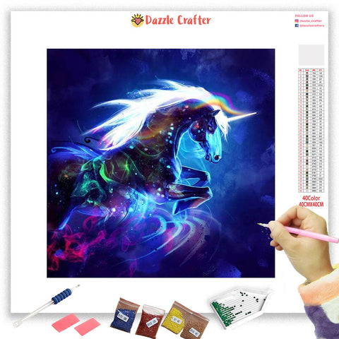 Image of NEON UNICORN Diamond Painting Kit - DAZZLE CRAFTER