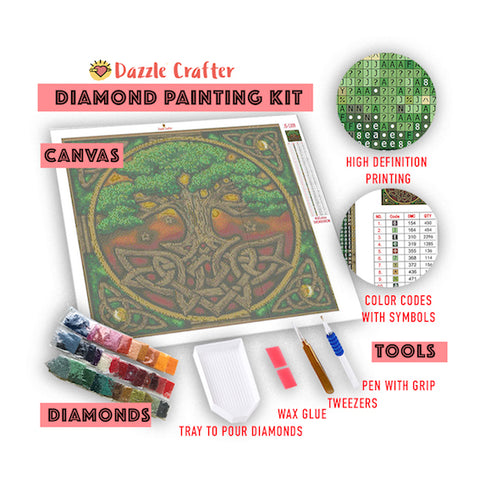Image of MINI MUSHROOM HOUSE KIDS Diamond Painting Kit