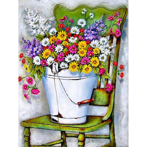 PICKING MY GARDEN FLOWERS Diamond Painting Kit
