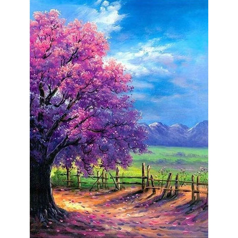 Image of PINK BLOSSOM TREE Diamond Painting Kit