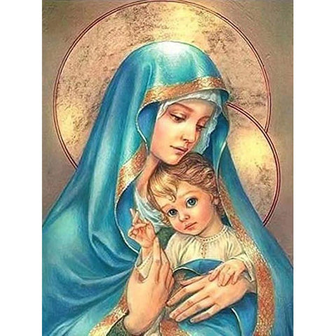 MOTHER MARY WITH JESUS Diamond Painting Kit