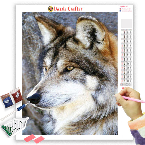 LONE WOLF Diamond Painting Kit