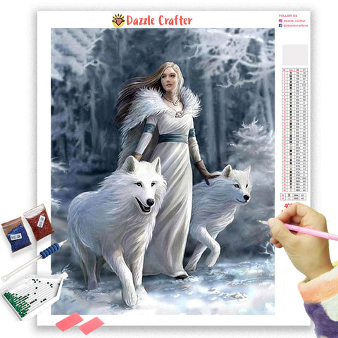 DIAMOND painting kit wolf