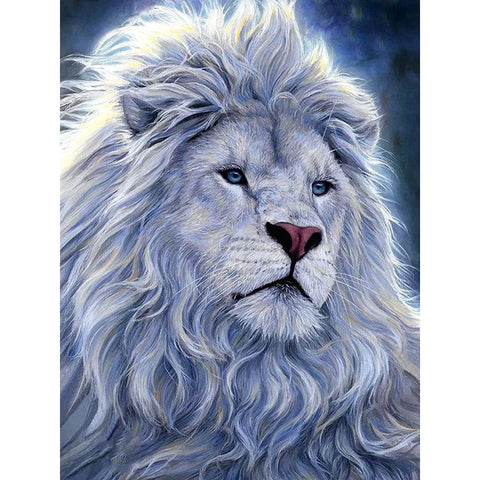 Image of MAJESTIC WHITE LION  Diamond Painting Kit