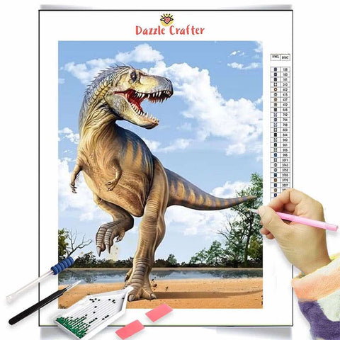 ROARING DINOSAUR Diamond Painting Kit