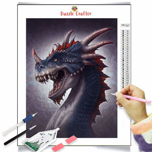ROARING FIERCE DINOSAUR Diamond Painting Kit