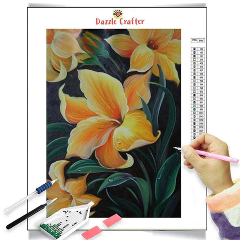 Image of YELLOW LILIES Diamond Painting Kit