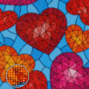 FALLING HEARTS & DIAMONDS Diamond Painting Kit - DAZZLE CRAFTER