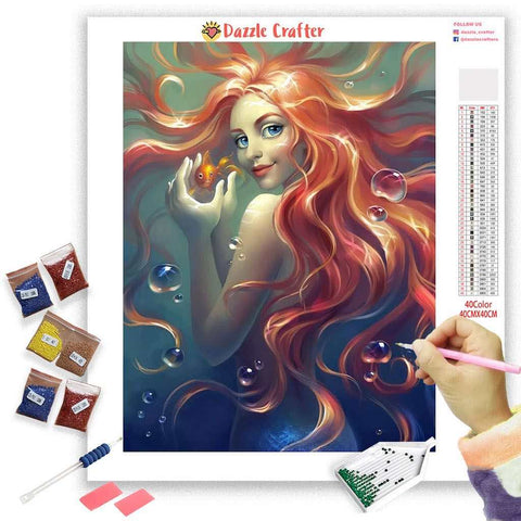 Image of RED HAIR VIXEN  Diamond Painting Kit