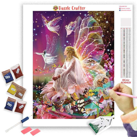 RAINBOW FAIRY GIRL Diamond Painting Kit