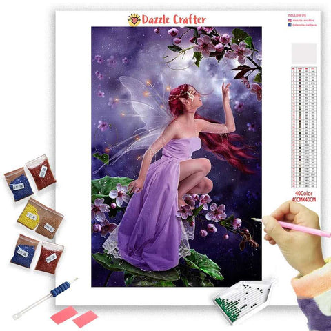 LILAC ANGEL Diamond Painting Kit