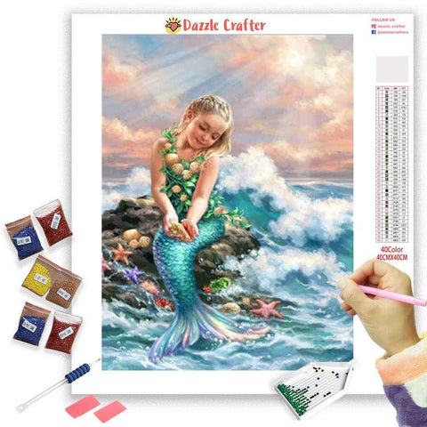 Image of LITTLE MERMAID  Diamond Painting Kit