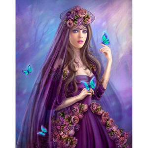 BLUE BUTTERFLY SWEETHEART Diamond Painting Kit