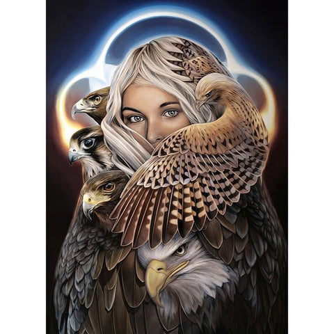 LADY HAWK Diamond Painting Kit