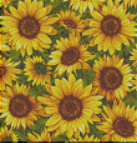 Image of BRIGHT SUNFLOWERS Diamond Painting Kit - DAZZLE CRAFTER