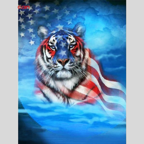 Image of TIGER AMERICA Diamond Painting Kit - DAZZLE CRAFTER