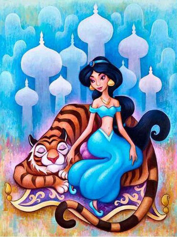 Image of PRINCESS JASMINE ALADDIN Diamond Painting Kit