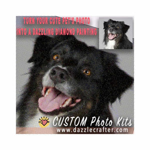 CUSTOM PHOTO WITH PETS - MAKE YOUR OWN DIAMOND PAINTING