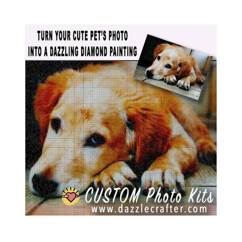 Image of CUSTOM PHOTO WITH PETS - MAKE YOUR OWN DIAMOND PAINTING