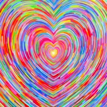 Image of RAINBOW HEART Diamond Painting Kit - DAZZLE CRAFTER