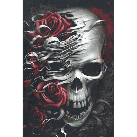 Image of SKULL ROSES Diamond Painting Kit