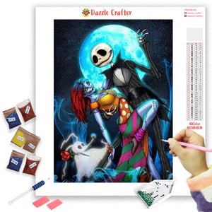 DANCING SKULL COUPLE Diamond Painting Kit - DAZZLE CRAFTER