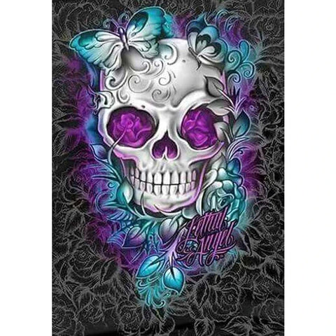 Image of SKULL BUTTERFLY Diamond Painting Kit - DAZZLE CRAFTER